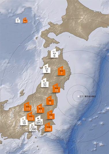 東日本大震災で証明された、倒壊ゼロという実力。